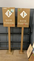 2 Bank Parking Signs