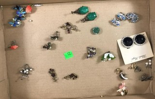 Flat Of Eleven Pairs Of Earrings And Some