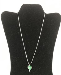 Ladies 14kt And 18kt White Gold Emerald And