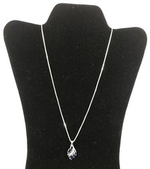 Ladies 14kt White Gold Blue Sapphire And Diamond