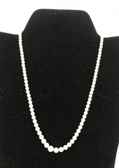 Ladies Necklace Of Graduated Mikimoto Pearls.