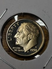 1990 s cameo proof Roosevelt dime