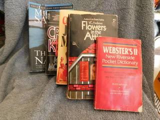 Paperback Books  5 ea