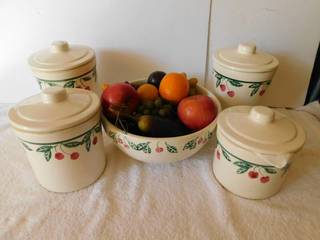 Crock Style Canisters  4 ea