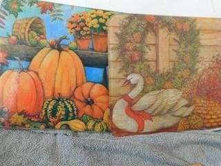 Fall Season Glass Cutting Boards  2 ea