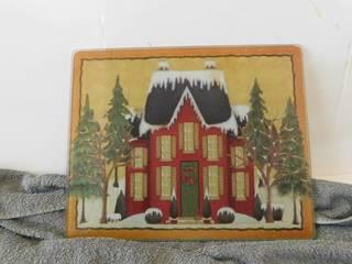 Cutting Board   Christmas Scene