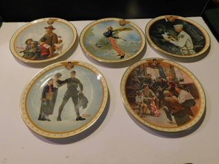 Normal Rockwell Plates  5 ea