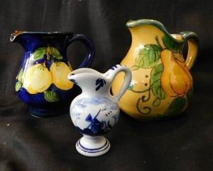 Three Collector Pitchers