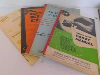 4 Watchmaker Manuals   28 KC Stemwinder Magazines