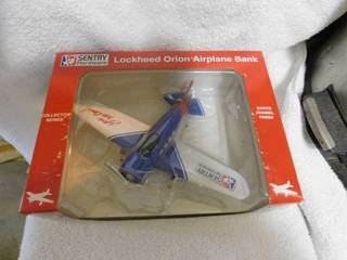 Airplane Coin Bank   NEW