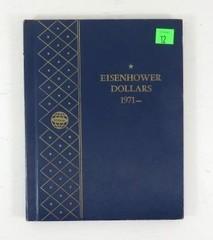 Eisenhower Dollars Blue Collection Book 1971 -