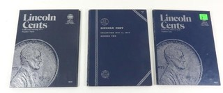 Three Lincoln Cents Blue Collection Books- 1909