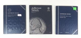 Three Jefferson Nickel Blue Collection Books-