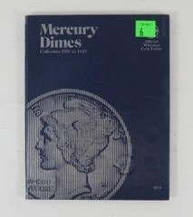 Mercury Dimes Blue Collection Book With 47 Coins