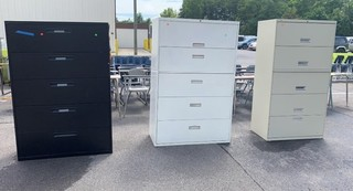 3 Lateral File Cabinets