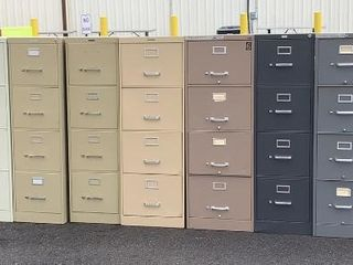 13 Metal File Cabinets