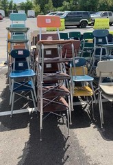 Approx 28 Stacks Of Multi Colored Chairs