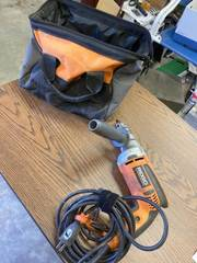 Ridgid drill with bag