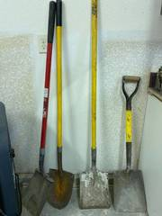 4 long-handled garden tools