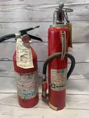 2 Vintage Fire Extinguisher