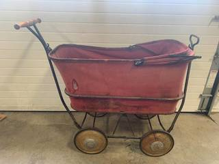 Antique Baby Buggy Carriage Stroller 34