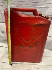 Red X Metal Jerry Gas Can