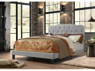Best Quality Furniture Upholstered Button Tufted Panel Bed full bed