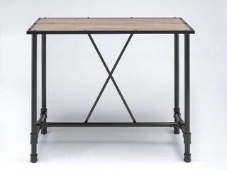 ACME Caitlin Bar Table  Rustic Oak and Black  Chairs Sold Separately