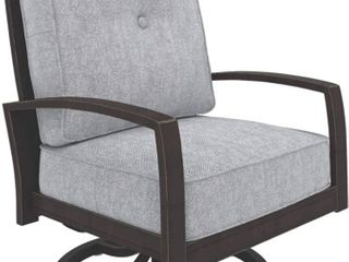 Signature by Ashley P414 821 Castle Island Patio lounge Chair  Dark Brown
