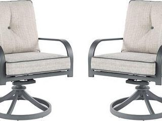 Signature Design by Ashley Donnalee Bay Outdoor Dark Gray Swivel lounge Chair   Set of 2