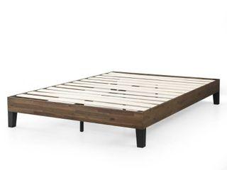 Priage by Zinus 12 Inch Acacia Wood Platform Bed queen