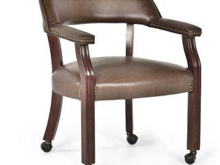 Gracewood Hollow Broker Captains Chair   Brown