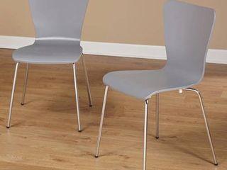 Pisa Bentwood Chair  Set of 2  Gray