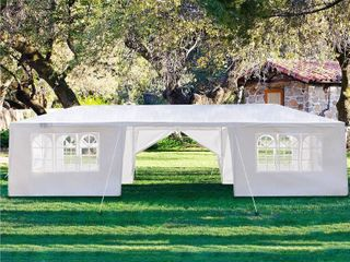 White PE Iron Spiral Interface Wedding Party Canopy Tent