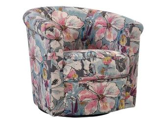 Marvel Swivel Tub Chair   lavender Baby Blue Pink