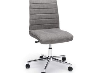 Essentials by OFM ESS 2080 Fabric Mid Back Armless Office Chair  Gray