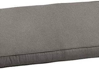Sunbrella Charcoal Grey Indoor  Outdoor Bench Cushion 42  Corded   42 in w x 20 in d MSRP  85 49