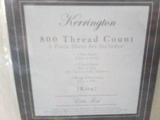 Kerrington 800 Thread Count Cotton Rich Bed Sheet Set MSRP  79 49