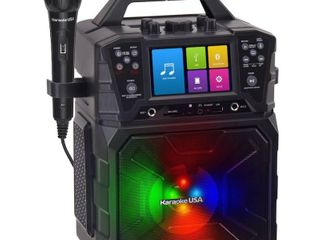 Karaoke USA - MP3 Portable Karaoke System - Black