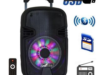 beFree Sound 8 Inch BT Portable Party Speaker