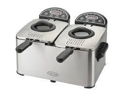 Stainless Double wall deep fryer with 2 baskets