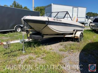 Late 60's/Early 70's Chrysler Ski Boat w/ Chrysler Skier Outboard Engine and Single Axle Trailer
