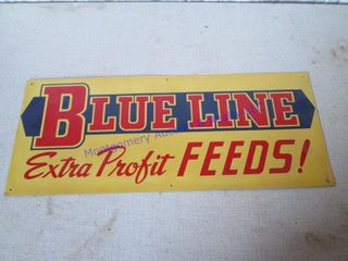 BlUE lINES FEED SIGN