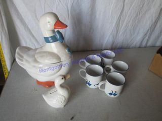 DUCK COOKIE JAR   CUPS