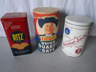 CRACKER OATMEAl TINS