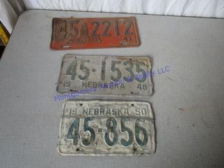 1940 50 S lICENSE PlATES