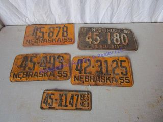 1950 S lICENSE PlATES