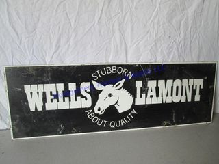 WEllS lAMONT PRESSED WOOD SIGN