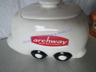 ARCHWAY TRAIN COOKIE JARS