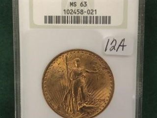 1924 Gold $20 NGC MS63